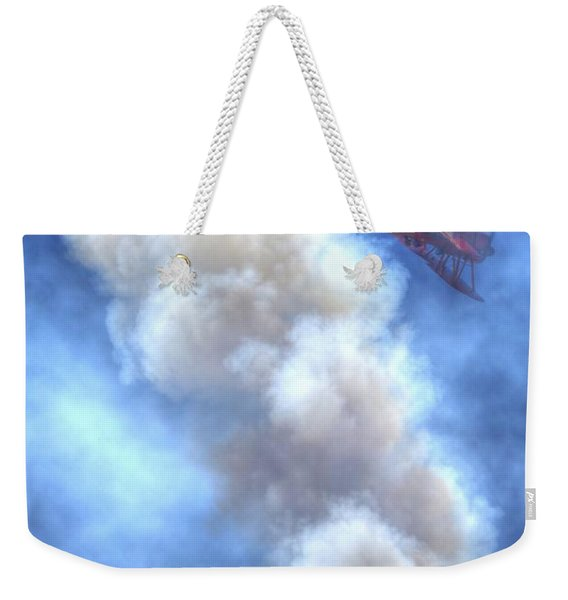 Vicky Benzing And Her 1942 Boeing Stearman Perform At Hollister Weekender Tote Bag