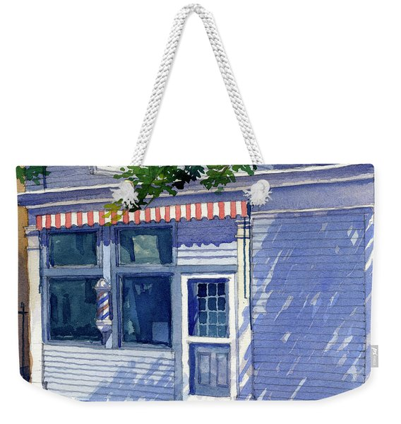 Vic's Barbershop Weekender Tote Bag