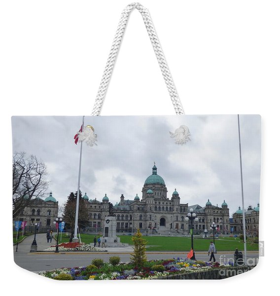 Victoria British Columbia Parliament Building Weekender Tote Bag