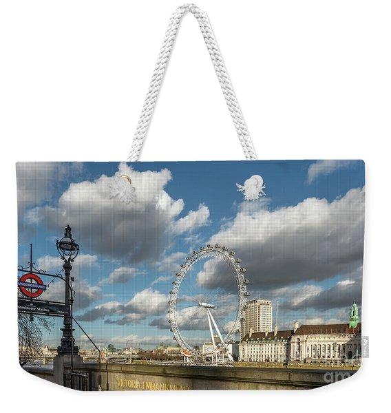 Victoria Embankment Weekender Tote Bag
