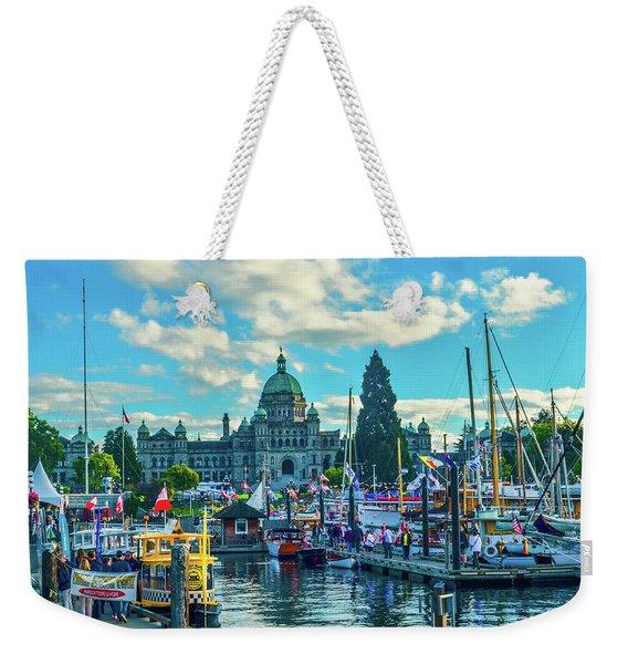 Victoria Harbor Boat Festival Weekender Tote Bag