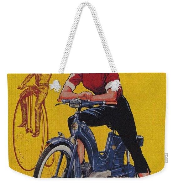 Victoria Vicky Iv - Motorcycle - Vintage Advertising Poster Weekender Tote Bag