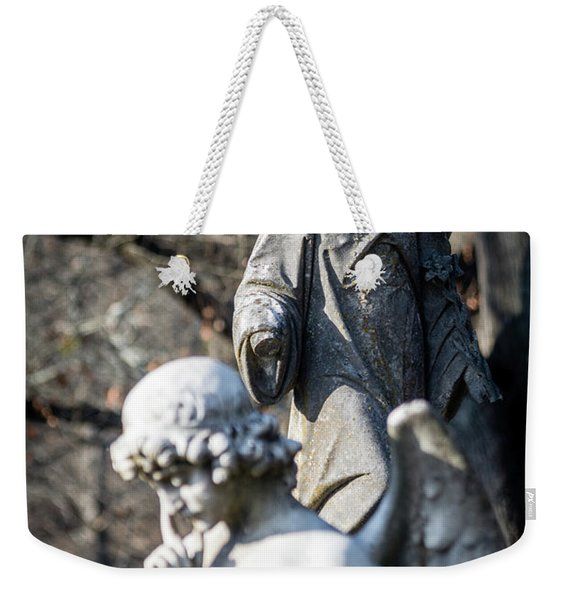 Victorian Angel Contemplating Weekender Tote Bag