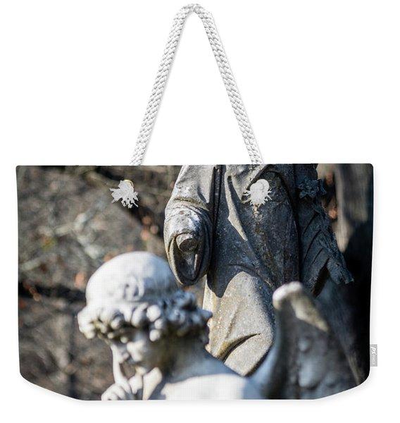 Victorian Angel Contemplating Weekender Tote Bag