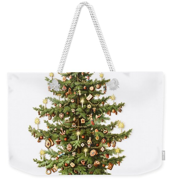 Victorian Christmas Card Weekender Tote Bag