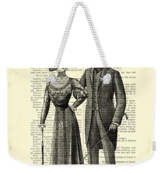 Victorian Couple Weekender Tote Bag