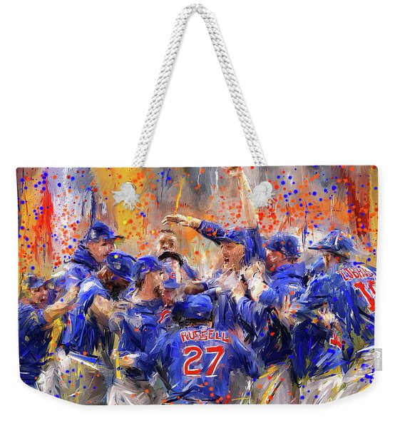 Victory At Last - Cubs 2016 World Series Champions Weekender Tote Bag