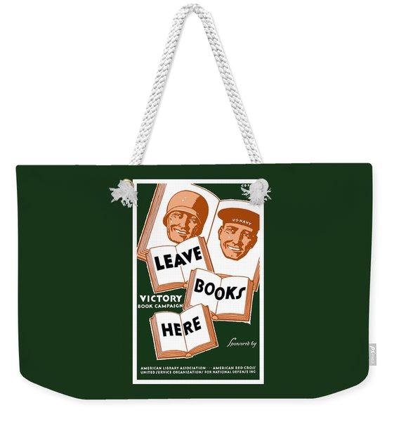 Victory Book Campaign - Wpa Weekender Tote Bag