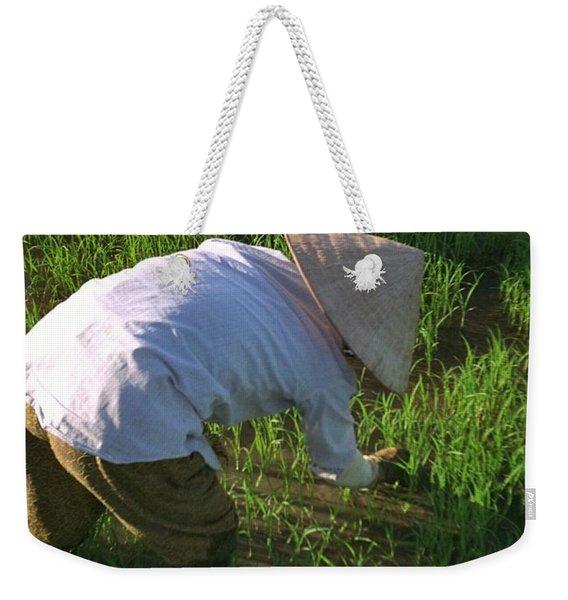 Vietnam Paddy Fields Weekender Tote Bag