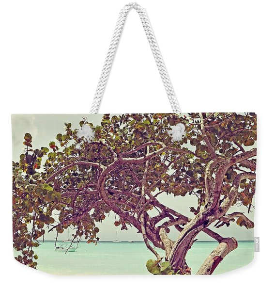 View At The Ocean With Boats In The Water Weekender Tote Bag