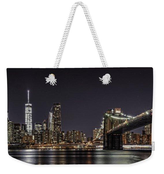 View From Brooklyn Bridge Park Weekender Tote Bag