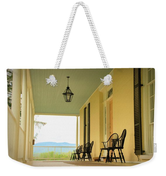 Weekender Tote Bag featuring the photograph View From Cedar Grove by Nancy De Flon