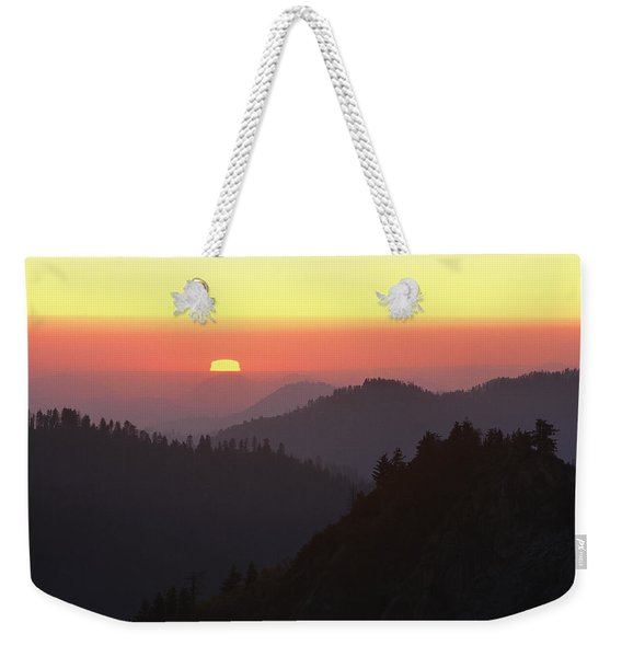 View From Moro Rock Of Sunset Sky Weekender Tote Bag