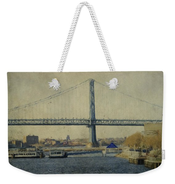 View From The Battleship Weekender Tote Bag