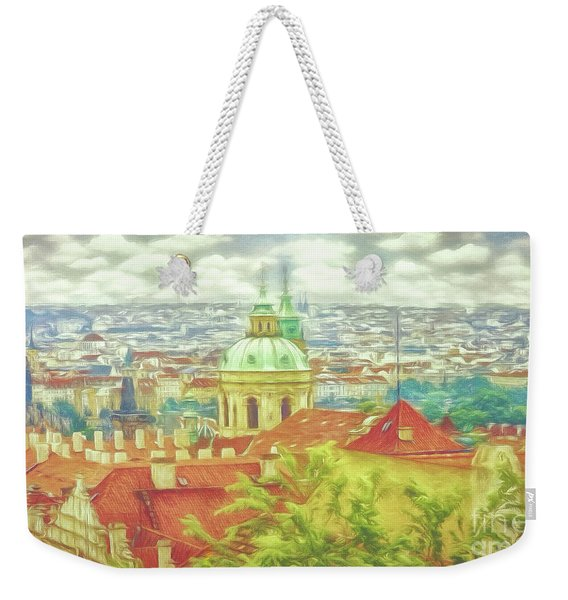 View From The High Ground - Prague  Weekender Tote Bag