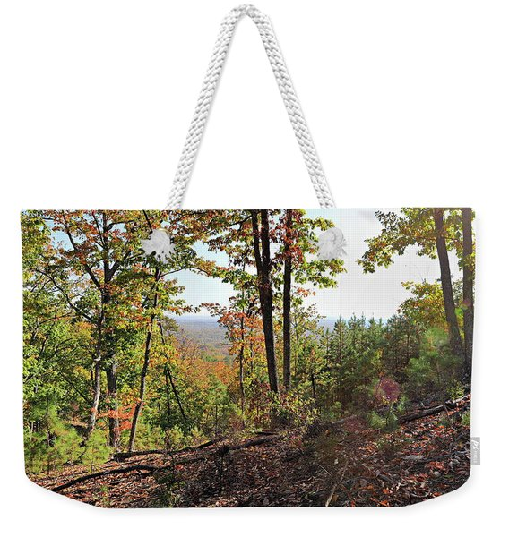 View From The Top Of Brown's Mountain Trail, Kings Mountain Stat Weekender Tote Bag