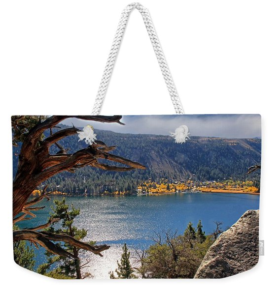 View From The Top Of June Lake Weekender Tote Bag