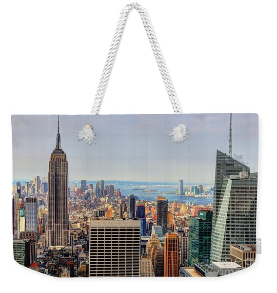 View From The Top Of The Rock Rockefeller Center Nyc  Weekender Tote Bag