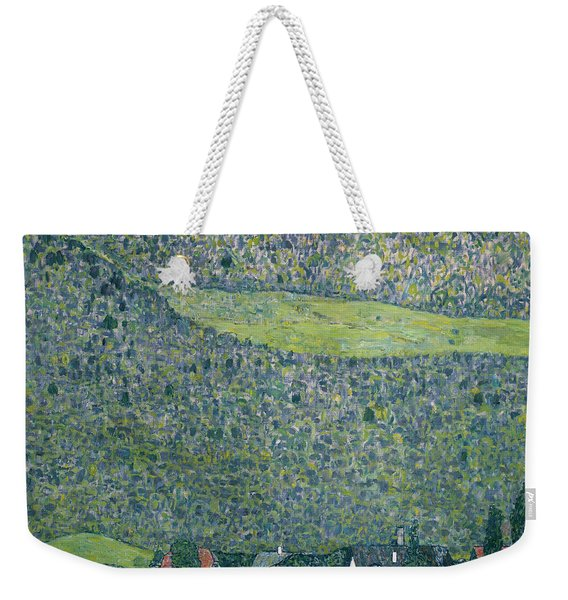 View Of A Chateau Unterach On Lake Attersee Weekender Tote Bag