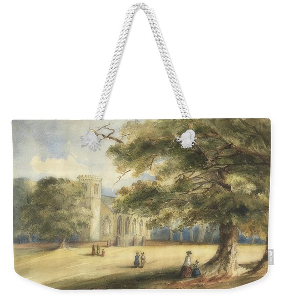 View Of A Churchyard, Southborough, Kent Weekender Tote Bag