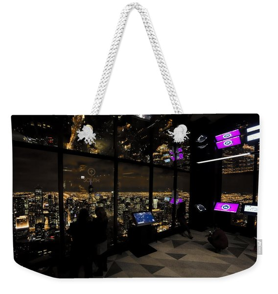 View Of A View - 360 Chicago Hancock Ctr Weekender Tote Bag