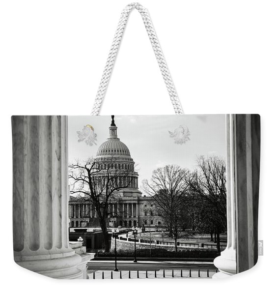 View Of Capitol Hill Through The Supreme Court Weekender Tote Bag