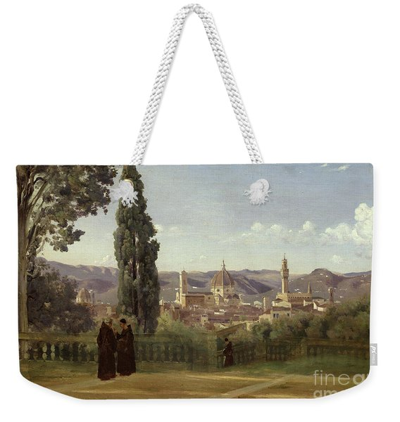 View Of Florence From The Boboli Gardens Weekender Tote Bag