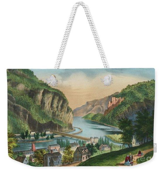 View Of Harpers Ferry, Virginia Weekender Tote Bag