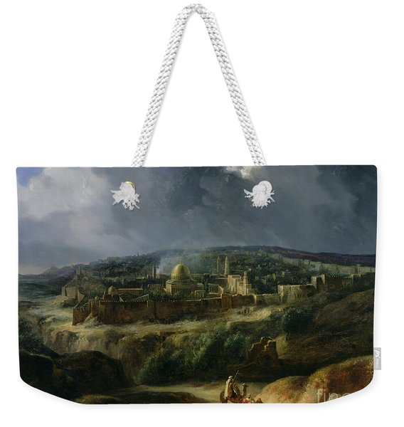 View Of Jerusalem From The Valley Of Jehoshaphat Weekender Tote Bag