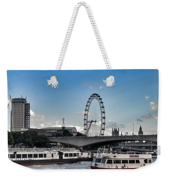 View Of London Eye  Weekender Tote Bag