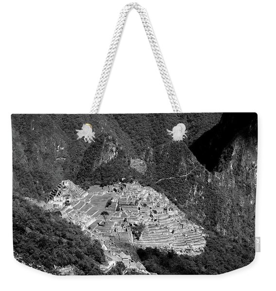 View Of Machu Picchu From The Inca Trail Weekender Tote Bag