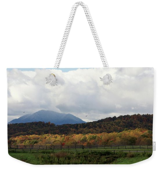 View Of Sharp Top In Blue Ridge Mountains Weekender Tote Bag