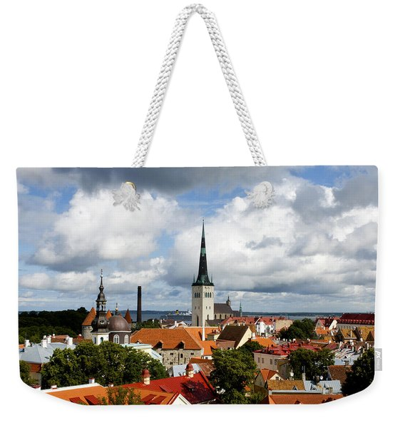 View Of St Olav's Church Weekender Tote Bag