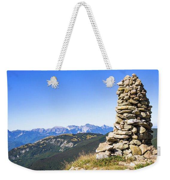 View Of The Apuan Alps Weekender Tote Bag