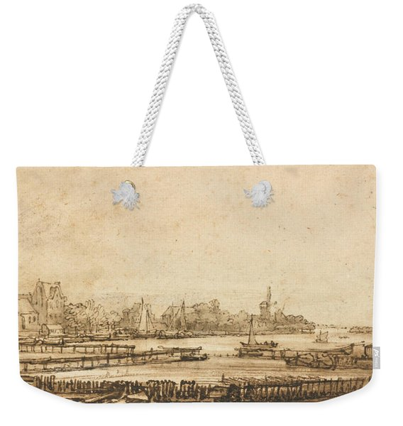 View Over The Amstel From The Rampart Weekender Tote Bag