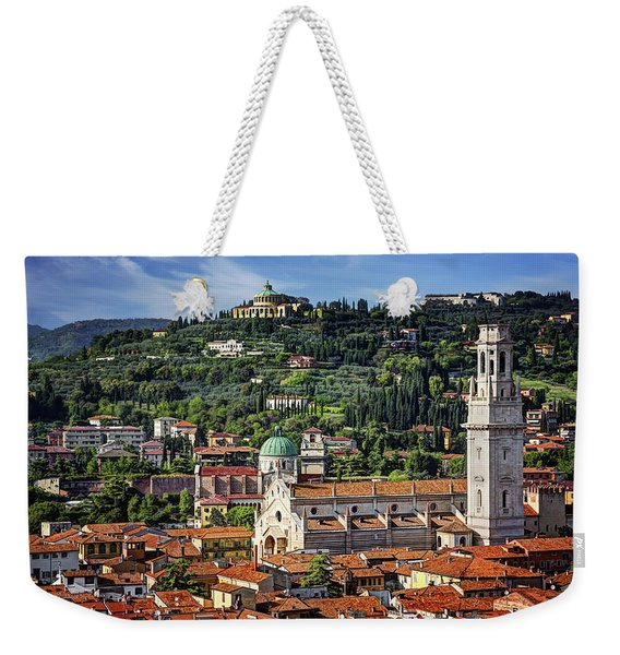 View Over Verona Italy  Weekender Tote Bag