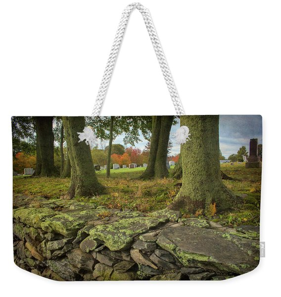 View Toward The Cemetery Weekender Tote Bag