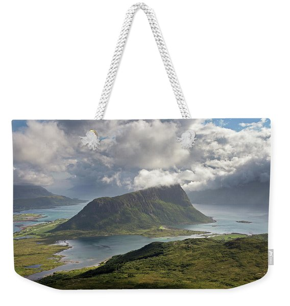 View Towards Offersoykammen From Holandsmelen Weekender Tote Bag