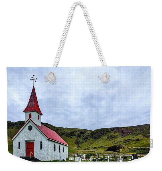 Vik Church And Cemetery - Iceland Weekender Tote Bag