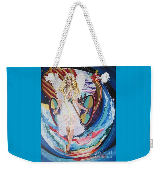 Blaa Kattproduksjoner   Welcomes Viking Goddess  To  Egypt Weekender Tote Bag