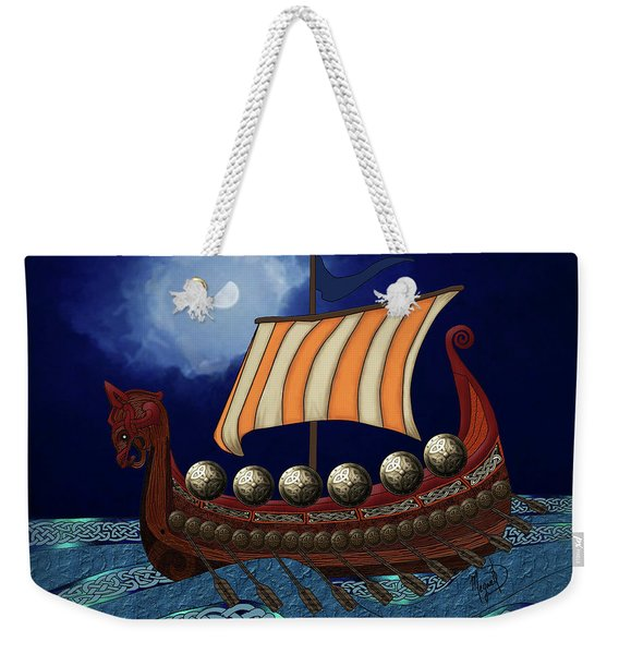 Viking Ship Weekender Tote Bag