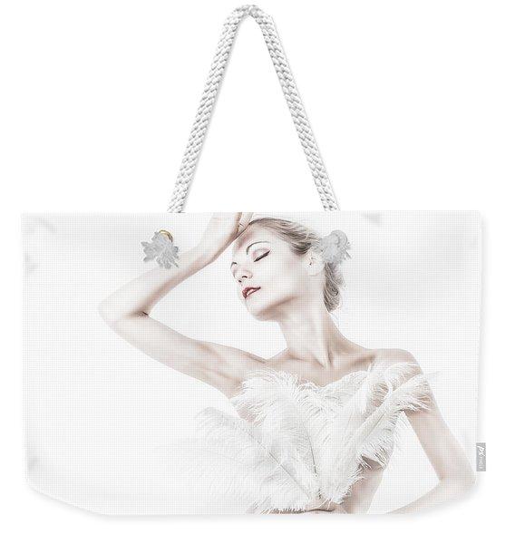 Viktory In White - Feathered Weekender Tote Bag