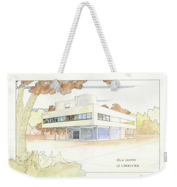 Villa Savoye Le Corbusier Weekender Tote Bag