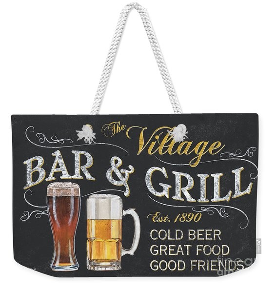 Village Bar And Grill Weekender Tote Bag