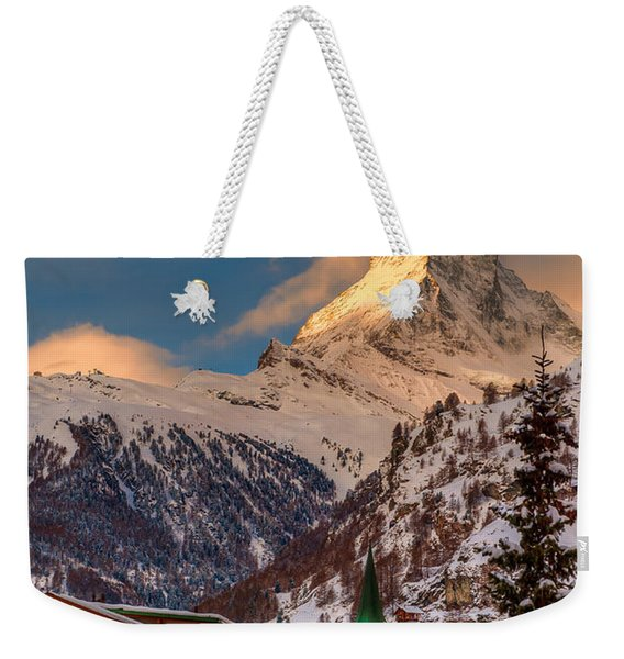 Village Of Zermatt With Matterhorn Weekender Tote Bag