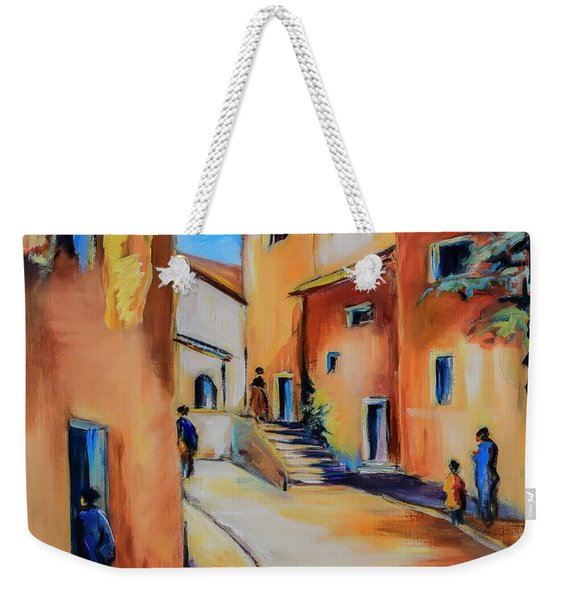 Village Street In Tuscany Weekender Tote Bag