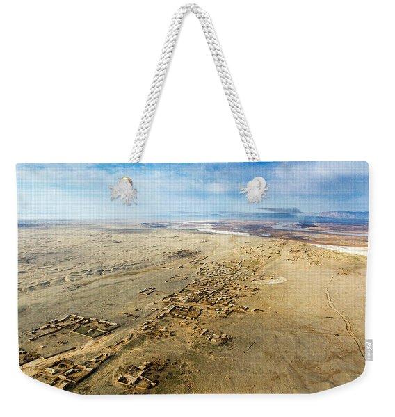 Village Toward Amu Darya River Weekender Tote Bag