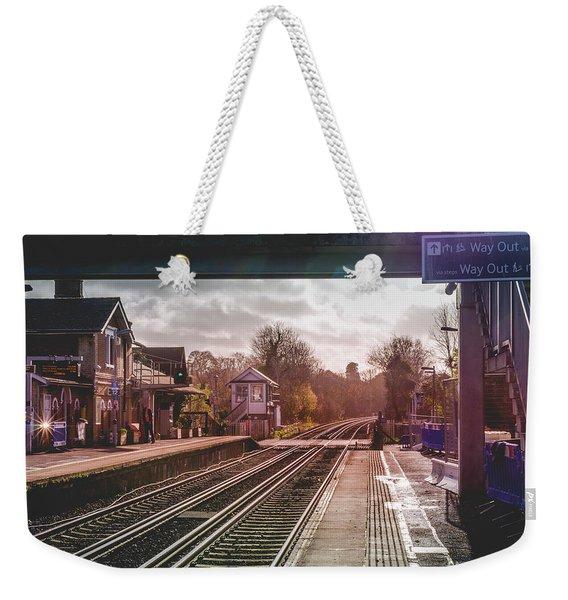 The Village Train Station Weekender Tote Bag