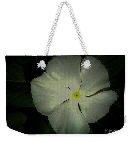 Vinca Bloom Night Glow Weekender Tote Bag