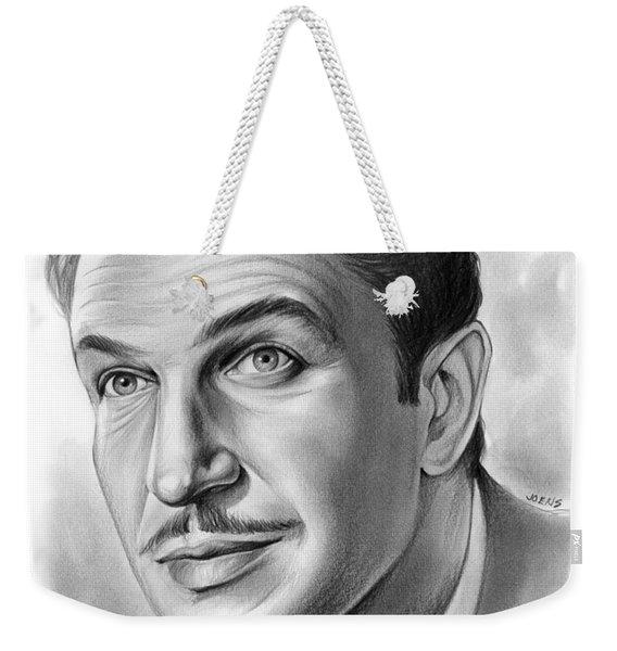 Vincent Price Weekender Tote Bag